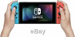 2019 New Nintendo Switch Red/Blue Console Bundle with Mario Party & Travel Case