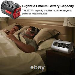 500W Portable Power Station 407Wh Backup Lithium Battery Pack Solar Generator US