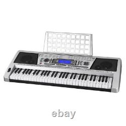 61 Key Electronic Piano Keyboard Music Key Board Organ With X Stand Portable