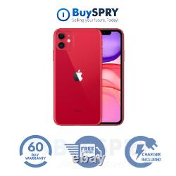 Apple iPhone 11 128GB Red Verizon T-Mobile AT&T Fully Unlocked iOS Smartphone