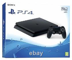 Black Playstation 4 PS4 500GB Slim CONSOLE NEW & SEALED OFFICIAL UK CONSOLE