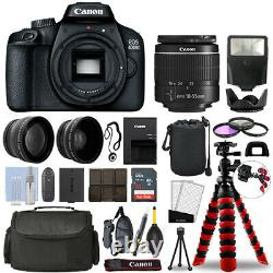 Canon EOS 4000D / T100 SLR Camera with 18-55mm+ 16GB 3 Lens Ultimate Accessory Kit