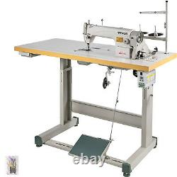 DDL-8700 Sewing Machine with Table+Servo Motor+Stand Industrial 550W Manual
