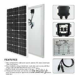 ECO 100W Mono Solar Panel Kit 12V Off Grid Battery Charge For Caravan RV Camping