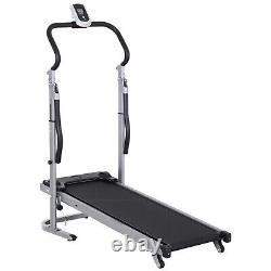 Folding Manual Walking Treadmill Machine Sit Up Bench with LCD Display