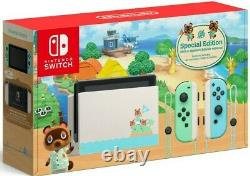 NEW Animal Crossing New Horizons Limited Edition Nintendo Switch Console