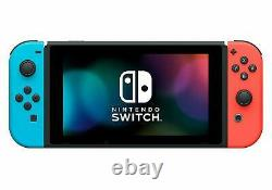 NEW Nintendo Switch Console 32GB Memory with Neon Blue and Neon Red Joy Cons V2