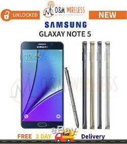 NEW Samsung Galaxy NOTE 5 (SM-N920A, GSM Unlocked) All Colors & Capacity