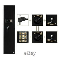 New 5 Gun Rifle Security Electronic Digital Lock Tall Safe Pistol Storage US