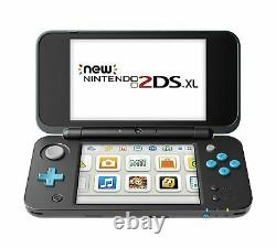 New Nintendo 2DS XL Black+Turquoise With Mario Kart 7 Pre-installed