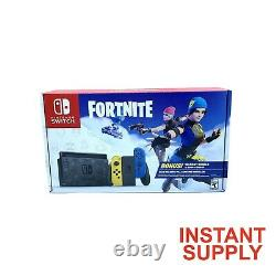 Nintendo Switch Fortnite Wildcat YellowithBlue Console Only Code NOT inlcuded