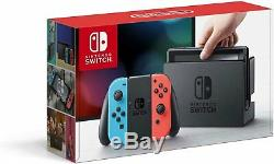 Nintendo Switch Neon Blue & Red, bundled with Carrying Case & Screen Protector
