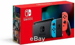 Nintendo Switch with Neon Blue & Red JoyCon Grey 32GB (Newest Model) 2DAY SHIP