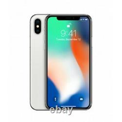 Open Box Apple iPhone X Silver A1865 AT&T T-Mobile Sprint Verizon Unlocked