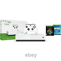 Open Box Xbox One S All Digital Edition Console with Fortnite + Sea of Thieves