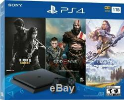 Sony PlayStation 4 PS4 Slim 1TB Console 3 Game Bundle Same Day Shipping