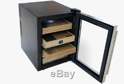 The Clevelander 300 Count Electronic Cigar Cooler Humidor with DIGITAL HYGROMETER