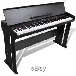 VidaXL Classic Electronic Piano 88 Keys Keyboard Digital LCD with Music Stand